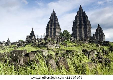 Hindu temple Prambanan. Indonesia, Central Java, Yogyakarta - stock photo