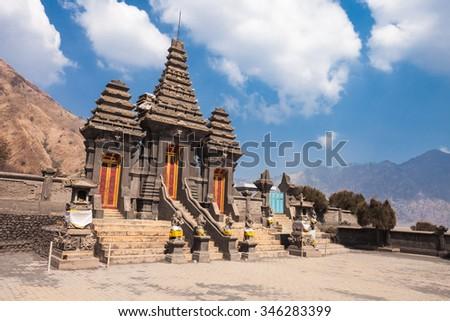 Hindu temple (Pura Luhur Poten) at the foot of Mount Bromo, Java island, Indonesia - stock photo