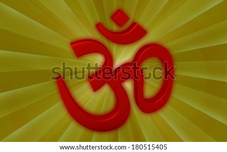 Hinduism symbol isolated on color background .ohm - stock photo