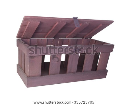 Hinged crate for storing a variety of things - path included - stock photo