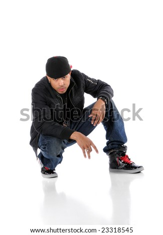 Hip-hop African American man looking into the camera - stock photo