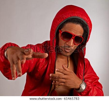 Hip hop artist - stock photo