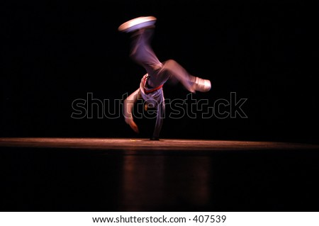 Hip Hop  dance performance on stage - stock photo