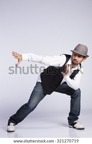 Hip hop dancer showing some movements  - stock photo