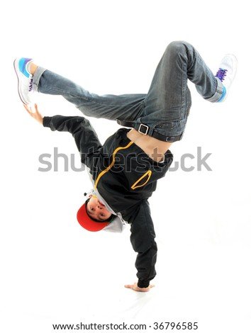 hip hop dancing - stock photo