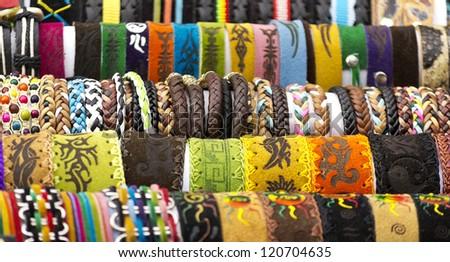hippie culture jewelry bracelet - stock photo