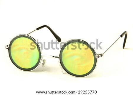 Hippie glasses - stock photo