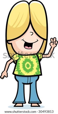 Hippie Kid - stock photo