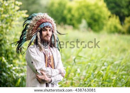 hippie man - stock photo
