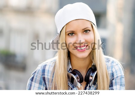 Hipster girl - stock photo