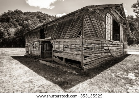 Hiram Caldwell Barn, Cataloochee, Great Smoky Mountinans, USA