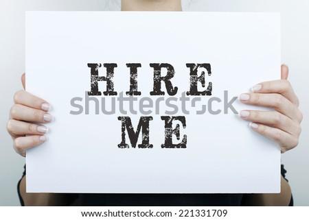Hire Me - stock photo