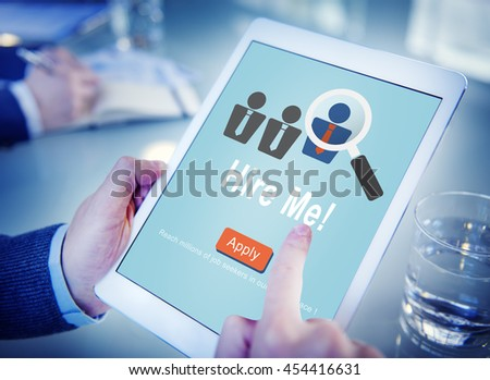 Hire Me Career Employment Hiring Occupation Concept - stock photo