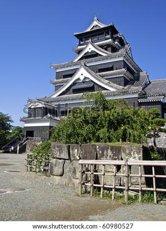 Hiroshima Castle main tower - stock photo