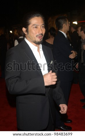 HIROYUKI SANADA at the Los Angeles premiere of his new movie The Last Samurai. December 1, 2003  Paul Smith / Featureflash