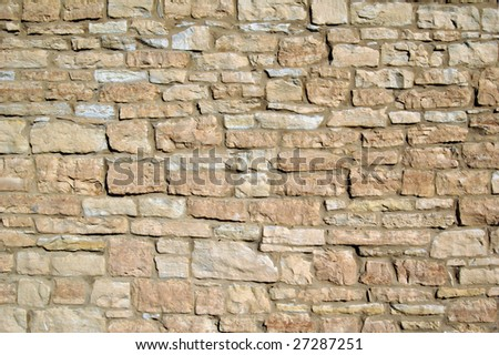Hisotric limstone building wall background