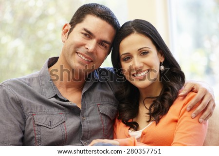 Hispanic Couples Pictures Hispanic Couple at Home