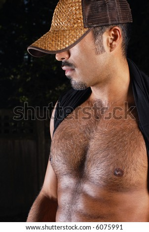 Hispanic Male - body shot profile - stock photo