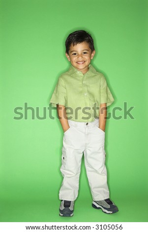Hispanic male child portrait. - stock photo