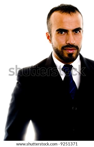 Hispanic Male in a Suit - stock photo