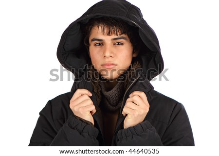Hispanic Male with coat