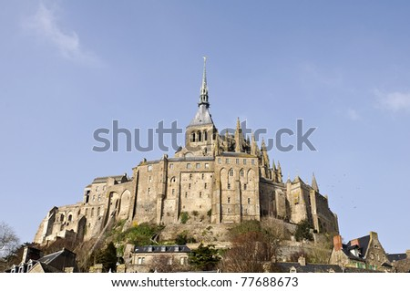 Historic abbey Mont  St. Michel in france