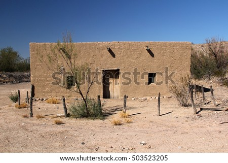 Historic Adobe Home in the Costolon Section of Big Bend National Park, Texas