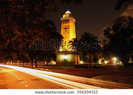 Historic Alhambra Water Tower in the city of Coral Gables, South Florida