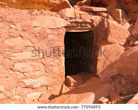 Historic Anasazi ruin in Fish Canyon, Utah, USA. - stock photo
