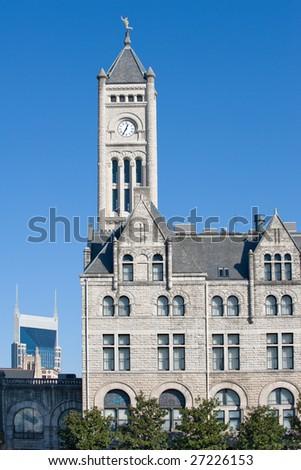 Historic art deco building in Nashville cityscape - stock photo