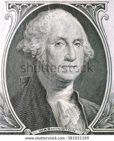 Historic banknote, Portrait of the U.S. President of Washington in One dollar USA - 1935 - stock photo