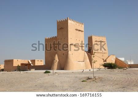 Historic Barzan Tower in Doha, Qatar, Middle East - stock photo