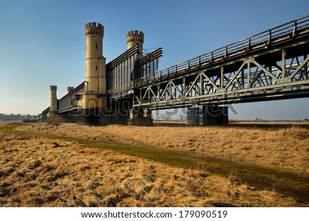 Historic bridges in Tczew - rail and road - Poland, Europe. - stock photo