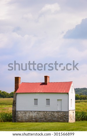 Historic Building at  House at Monocacy National Battlefield - stock photo