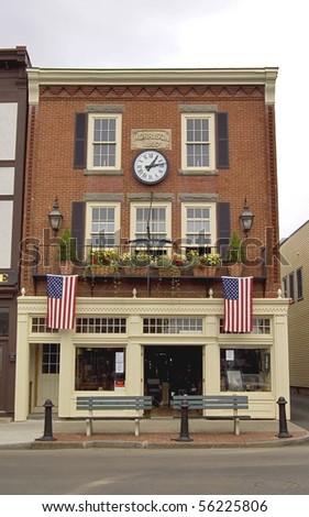 historic building in Bar Harbor, Maine Usa - stock photo