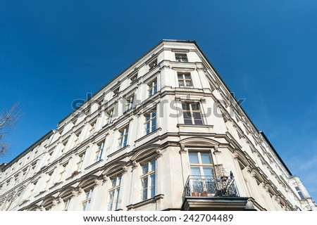 Historic building in Berlin, district of Pankow - stock photo
