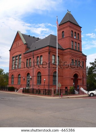 Historic Building, Jefferson Texas - stock photo
