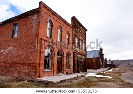 Historic Buildings in Bodie California - stock photo