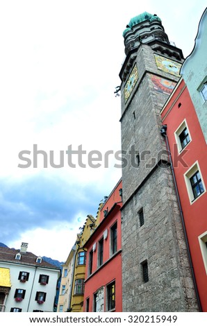 historic buildings in Innsbruck Austria