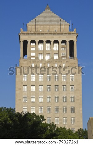 Historic buildings in St. Louis, Missouri, USA - stock photo