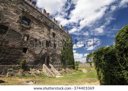 Historic castle in Bolkow, Poland - stock photo
