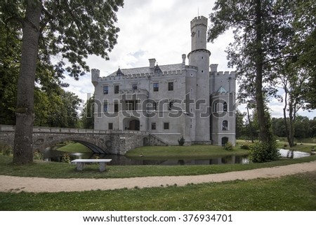 Historic castle in Karpniki, Poland - stock photo