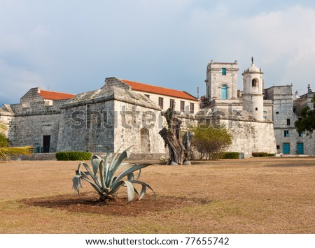 Historic castle known as La Fuerza in Old Havana, now used as a museum - stock photo