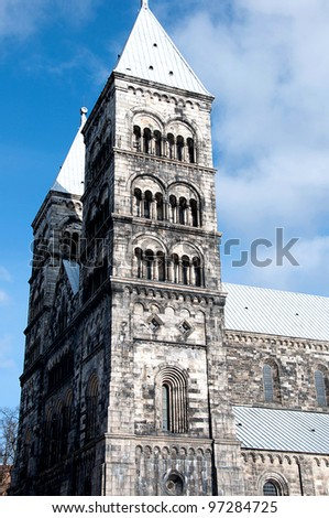 historic cathedral in Sweden - stock photo