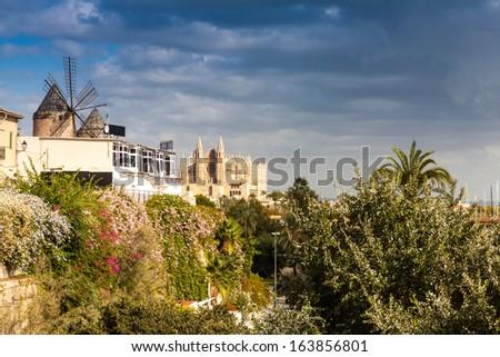 Historic Center of Palma de Mallorca,Spain - stock photo