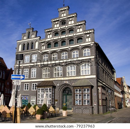 Historic chamber of commerce building, Lueneburg, near Hamburg, Germany