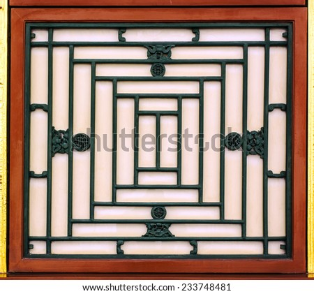 historic Chinese window in the Summer Palace - stock photo