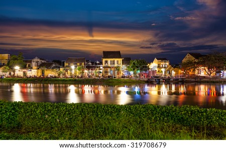 Historic city of Hoi An in Vietnam at night