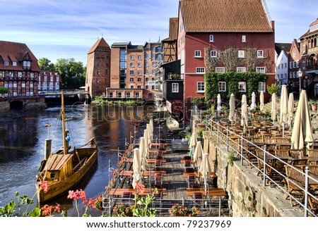 Historic city of Lueneburg, near Hamburg, Germany