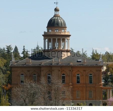 historic courthouse auburn california - stock photo